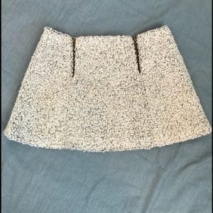 COPE cream wool skirt with zipper detail size 0